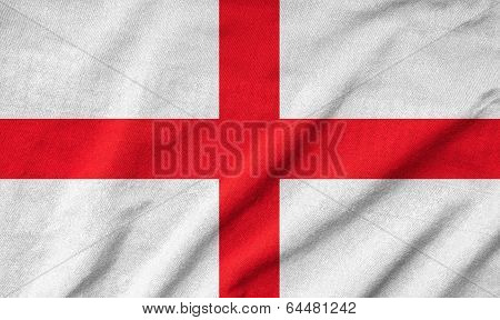 Ruffled England Flag