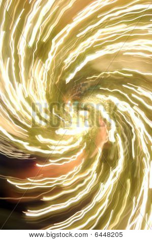 Abstract Golden Yellow Spiral