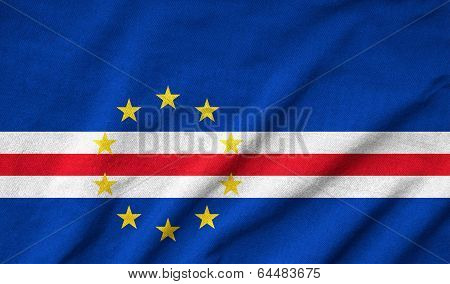 Ruffled Cape Verde Flag