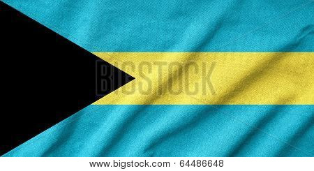 Ruffled Bahamas Flag