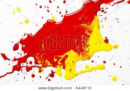 Red And Yellow Paint