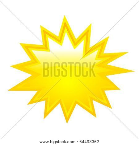 Yellow boom vector star