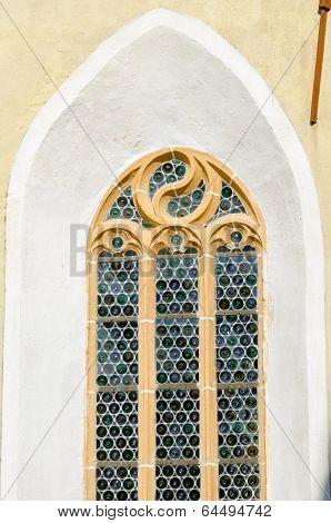 Woodcarved  frame window
