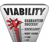 Viability Measurement Speedometer Potential Level poster