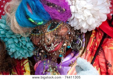World's Most Pierced Woman