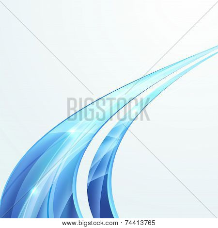 Bright Swoosh Speed Rapid Line Folder Design