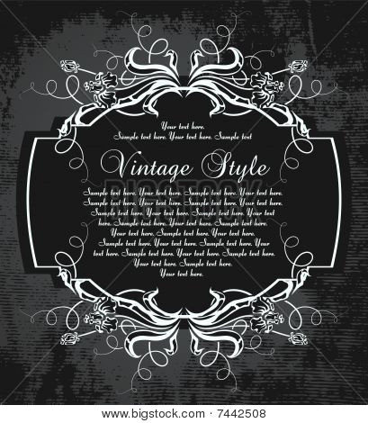 dark vintage frame with irises