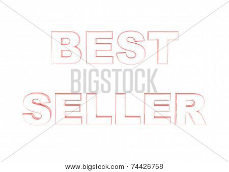 Glossy red three-dimensional inscription Best seller as a sign. poster