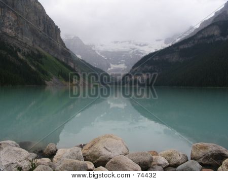 Mirror Lake In Canada (Lake Louise)
