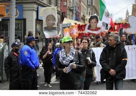 Legal Observer in green cap
