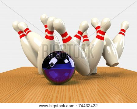 Bowling Game Strike rot abstract activity concept poster