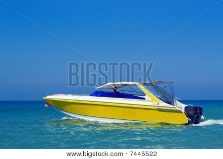 Boat In The Blue Water
