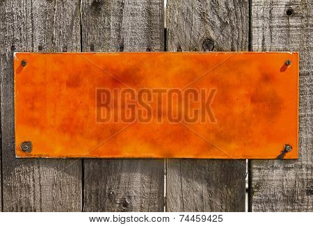 Textured  Orange  Rusty Metal Background, Blank Surface..