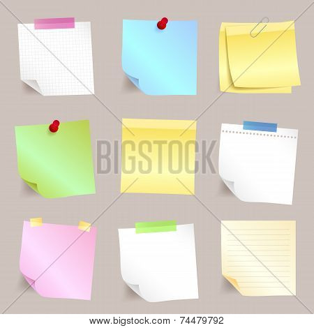 Different paper note set