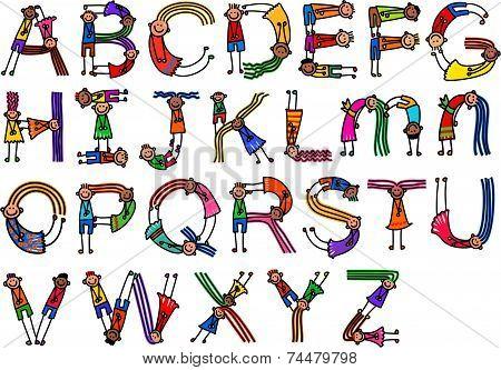 Alphabet Character Children