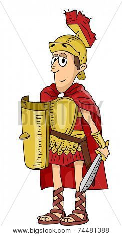 Illustration Featuring a Roman Soldier