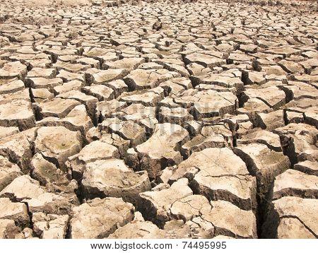 Drought-parched Soil