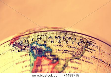 South America On Map