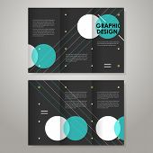geometric modern design template for tri-fold brochure poster