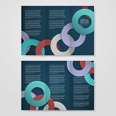 colorful circle layout design for tri-fold brochure template poster