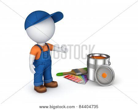 Worker in a uniform.
