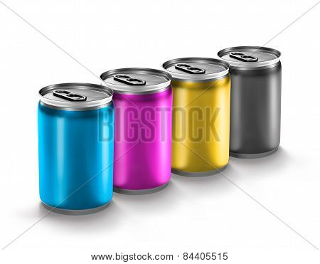 Colourful Aluminum Can
