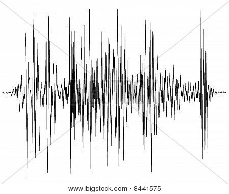 audio wave diagram - a chart of a seismograph - symbol for measurement - earthquake wave graph poster