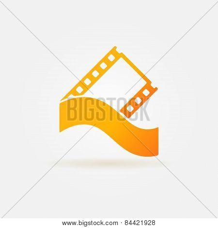 Film strip concept logo or icon