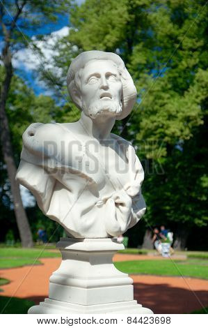 Bust of Diogenes ( beginning of the XVIII century by O. Marineli) Summer Garden Saint Petersburg Russia poster