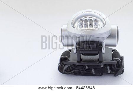 Eight Led Head-mounted Flashlight With Ribbon