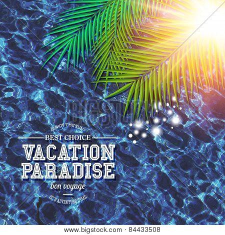 Tropical Vacation Paradise marketing poster
