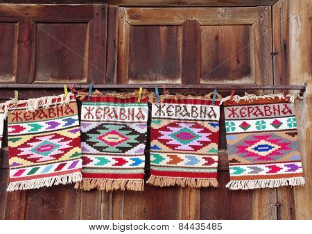 Small carpet souvenir from village Jeravna near city Kotel Bulgaria poster
