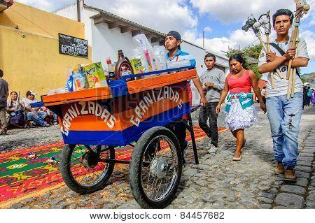 Hobby Horse & Slushie Sellers, Antigua, Guatemala