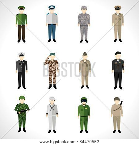 Military Avatars Set