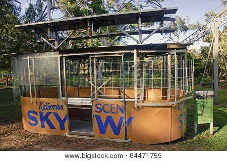 Katoomba, Australia.. - December 16, 2014: Cable Car At Blue Mou