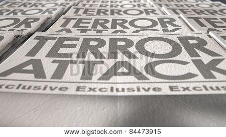 Newspaper Terrorism Press Run End