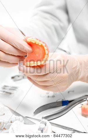 Dental prosthesis, dentures, prosthetics work