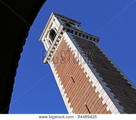 Vicenza, Bell Tower In The Sanctuary Of The Madonna In Italy