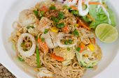 Fried Thai Mama Instant Noodles, thai food poster