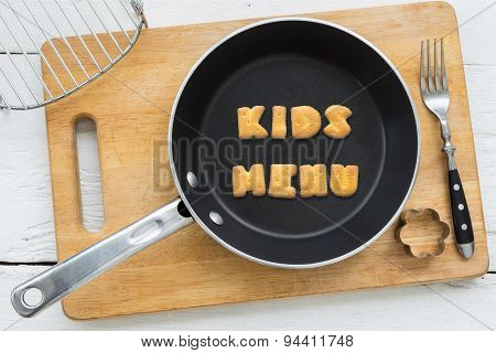 Alphabet Biscuits Word Kids Menu And Kitchenware