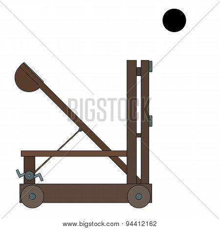 Ancient Catapult Cartoon