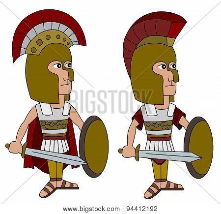 Hoplite Warriors Cartoon