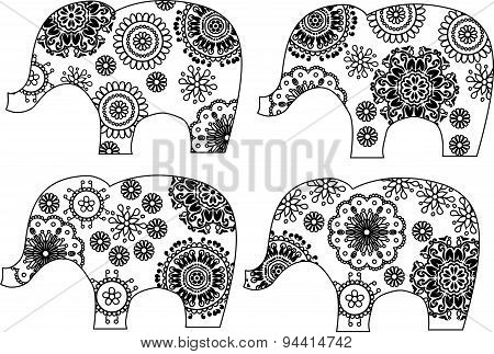 Decorative elephant silhouette