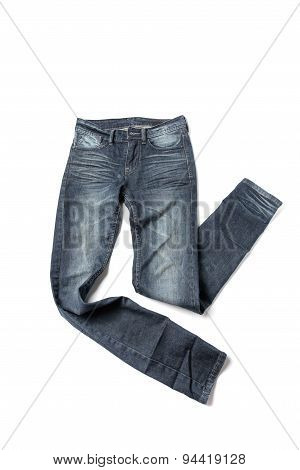 jean pants isolated on a white background