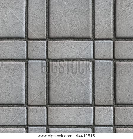 Large Quadratic Gray Pattern Paving Slabs Built of Small Squares and Rectangles.