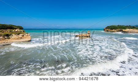 Canal d'amour on Corfu island, Greece