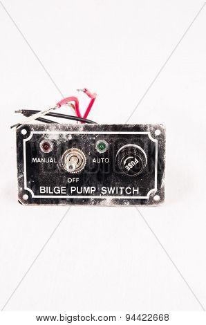 Old Vinatge Used Black Grunge Switch Interruptor poster