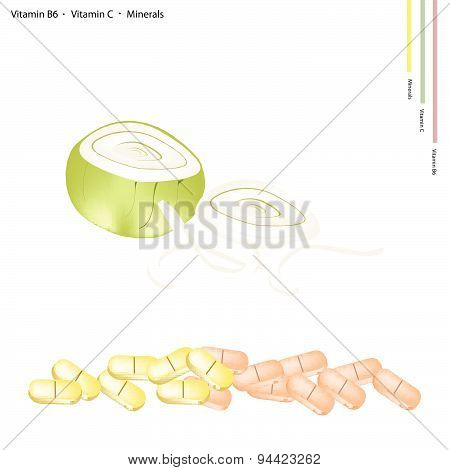 Fresh Onions With Vitamin B6, C And Minerals