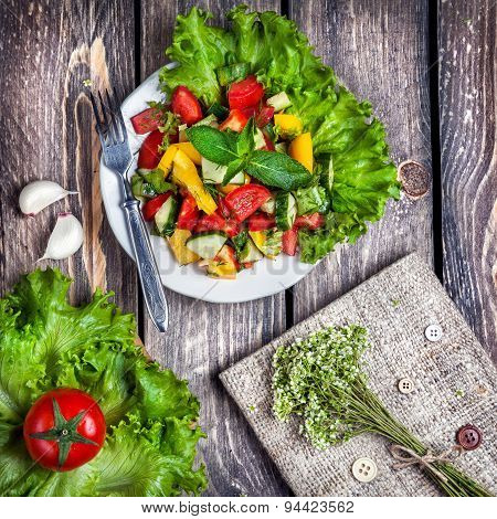 Green Salad And Recipe Book
