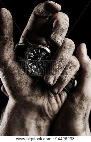 Watch In Male Hand